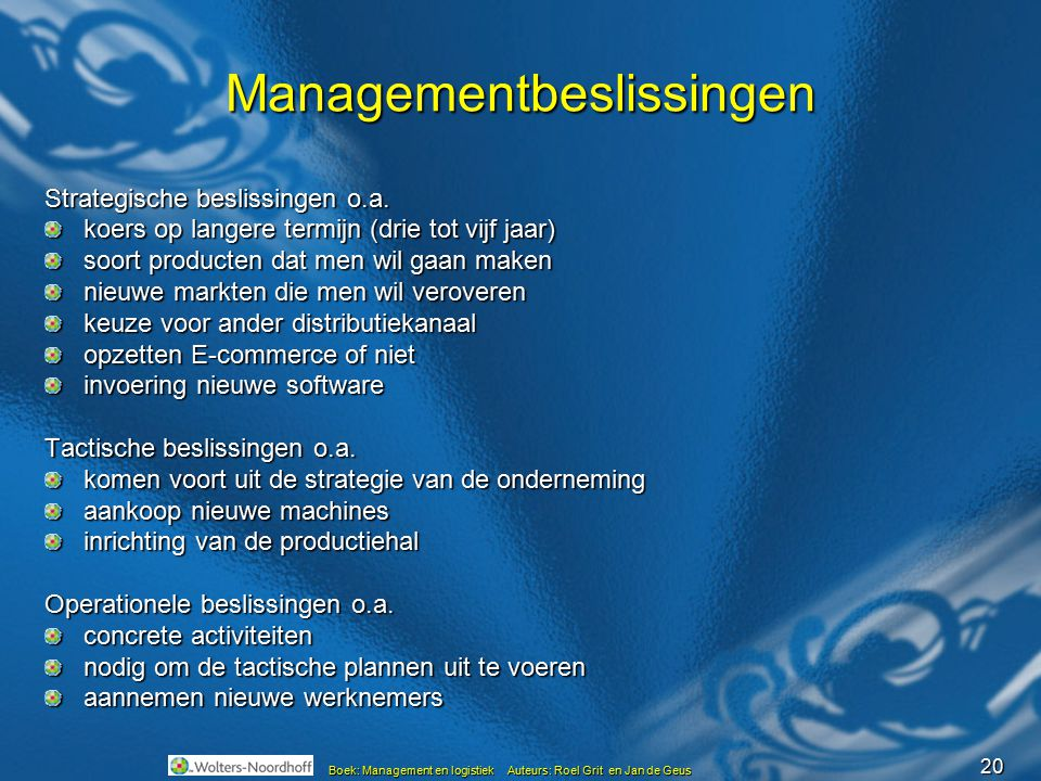 Managementbeslissingen