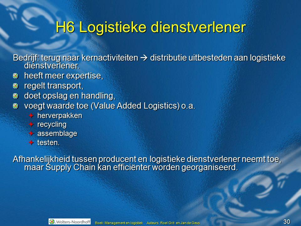H6 Logistieke dienstverlener