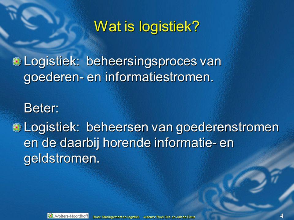 Wat is logistiek Logistiek: beheersingsproces van goederen- en informatiestromen. Beter: