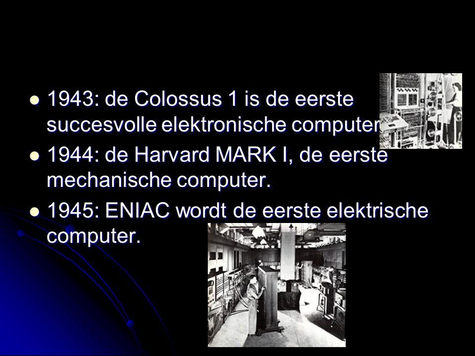 1943: de Colossus 1 is de eerste succesvolle elektronische computer