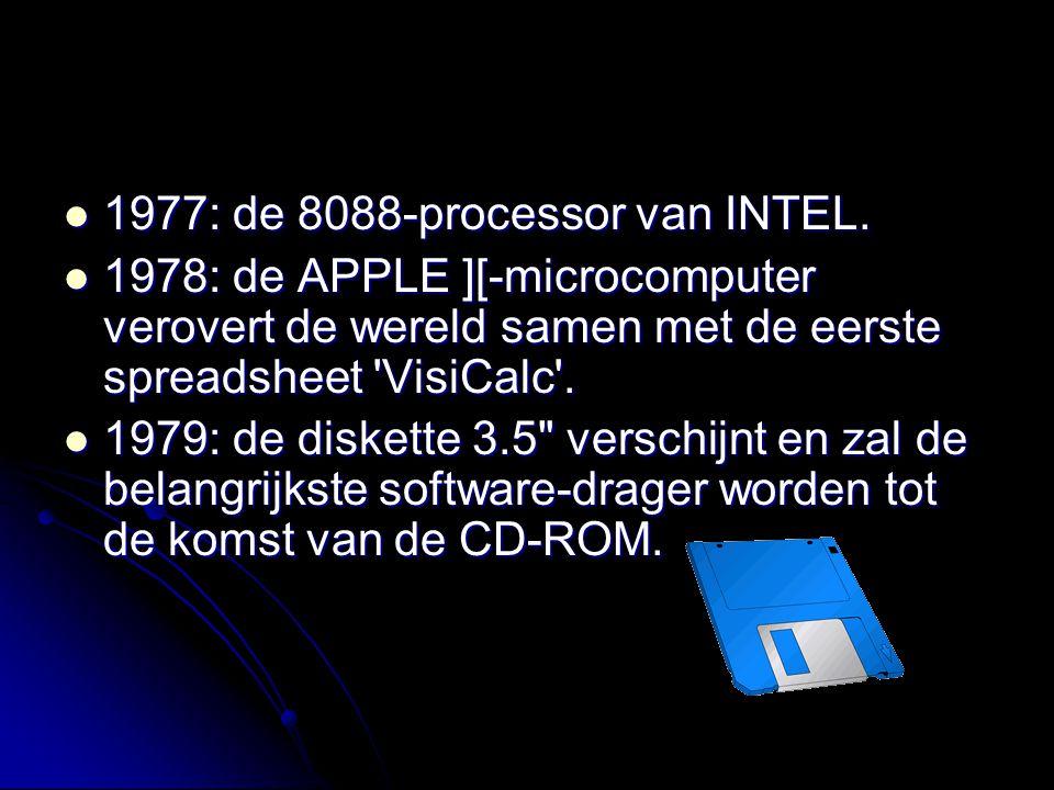 1977: de 8088-processor van INTEL.