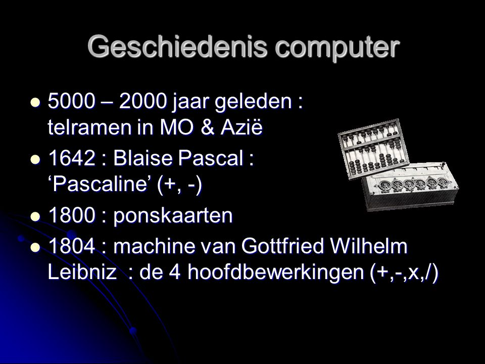 Geschiedenis computer