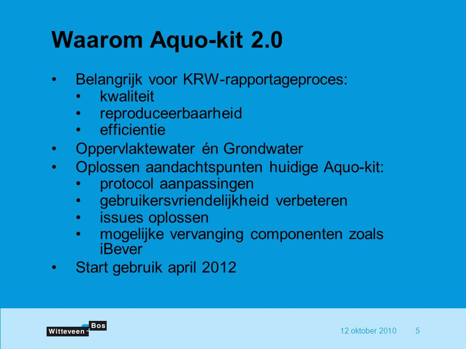 Waarom Aquo-kit 2.0 Belangrijk voor KRW-rapportageproces: kwaliteit