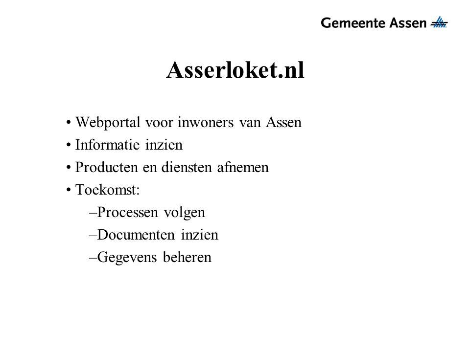 Asserloket.nl Webportal voor inwoners van Assen Informatie inzien