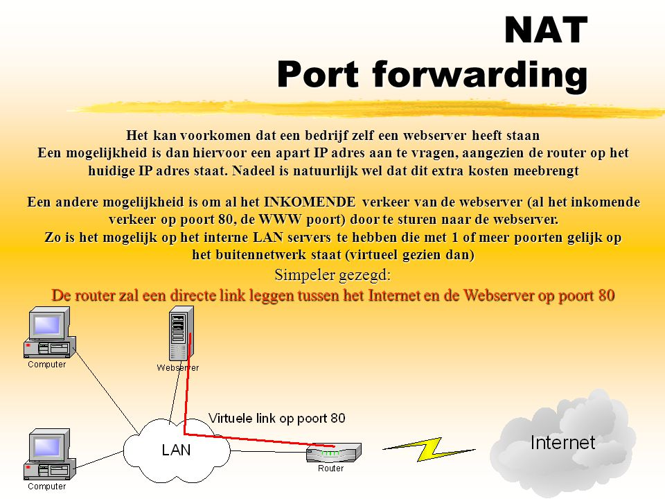 NAT Port forwarding Simpeler gezegd: