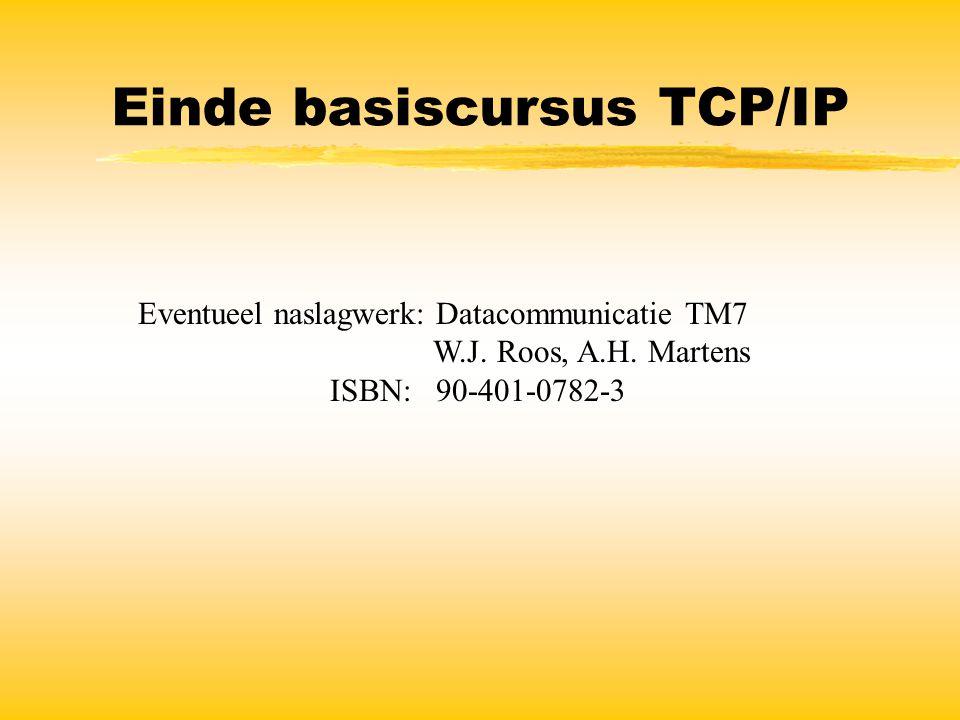 Einde basiscursus TCP/IP