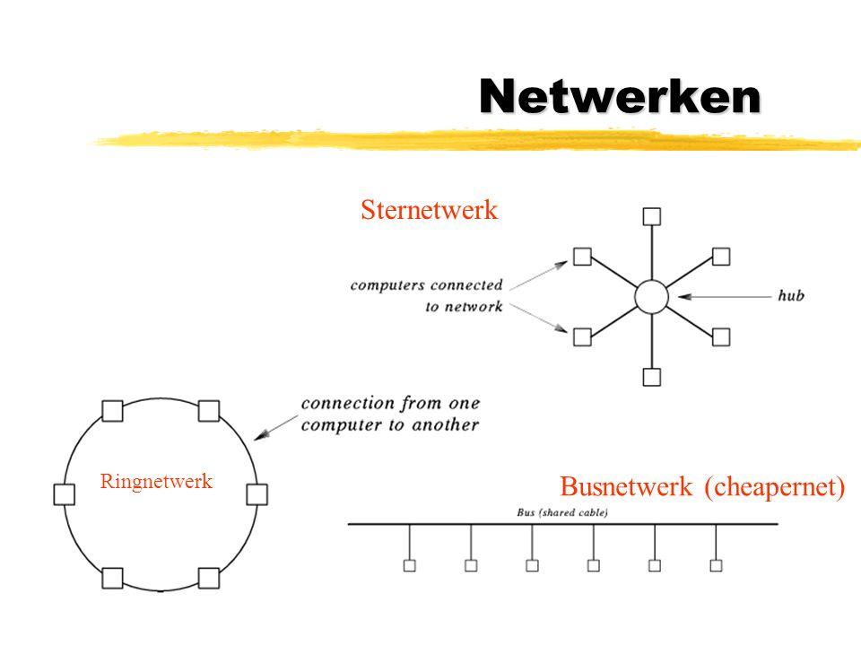 Netwerken Sternetwerk Ringnetwerk Busnetwerk (cheapernet)