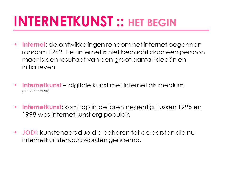 INTERNETKUNST :: HET BEGIN