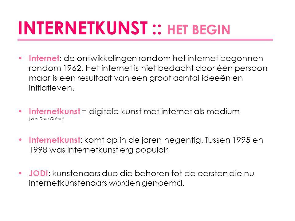 INTERNETKUNST :: HET BEGIN