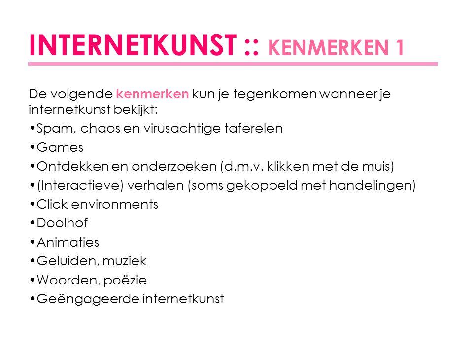 INTERNETKUNST :: KENMERKEN 1