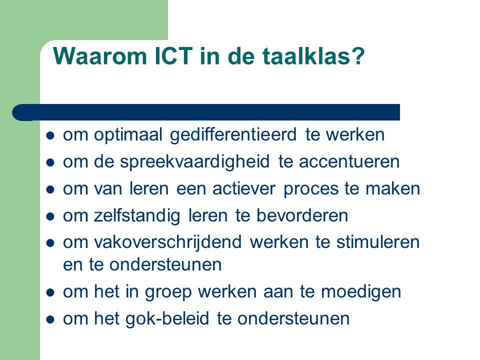 Waarom ICT in de taalklas