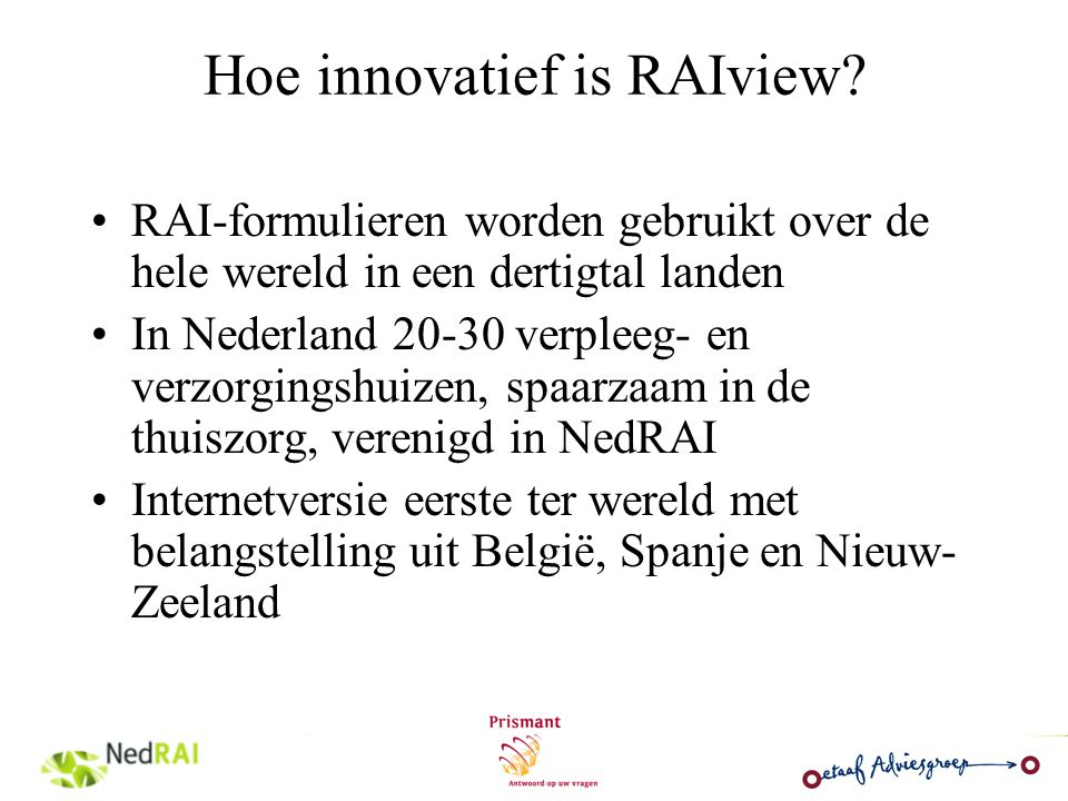 Hoe innovatief is RAIview