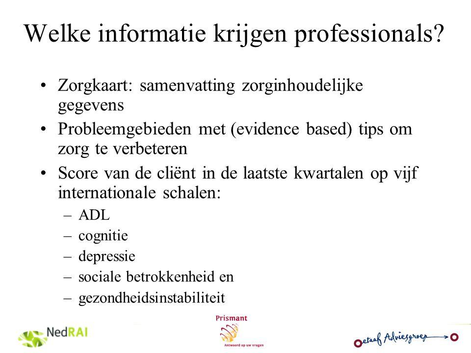 Welke informatie krijgen professionals
