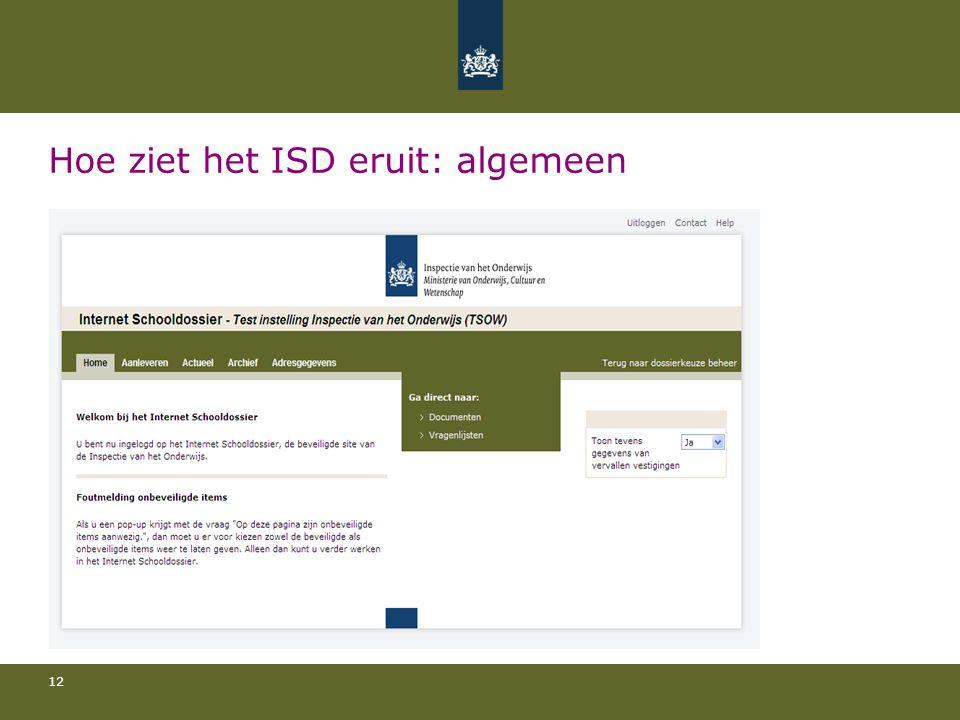 Hoe ziet het ISD eruit: algemeen