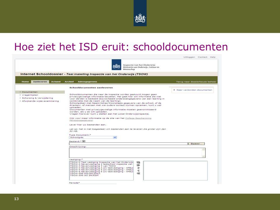Hoe ziet het ISD eruit: schooldocumenten