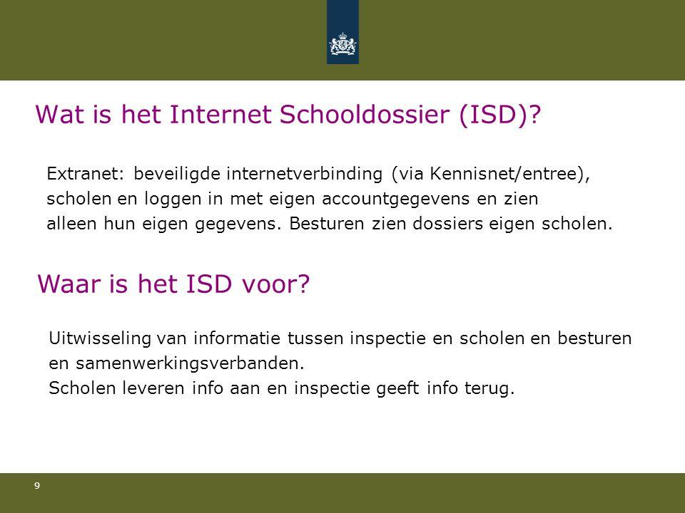 Wat is het Internet Schooldossier (ISD)