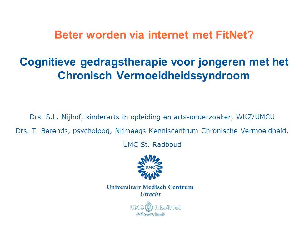 Beter worden via internet met FitNet