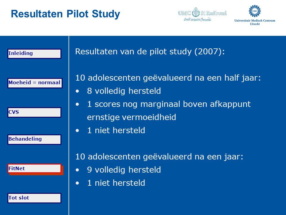 Resultaten Pilot Study