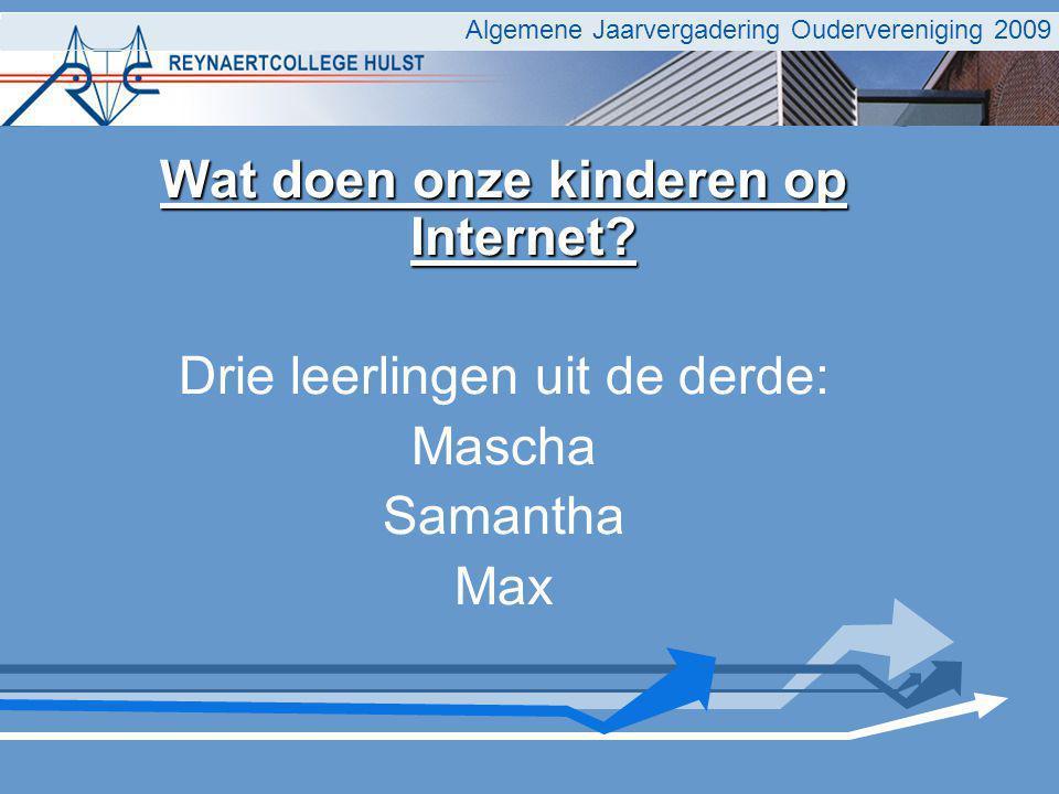 Wat doen onze kinderen op Internet