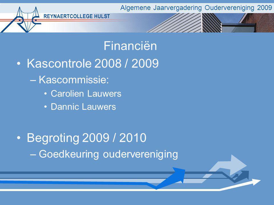 Algemene Jaarvergadering Oudervereniging 2009