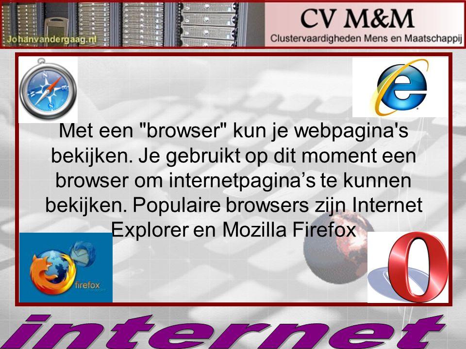 Met een browser kun je webpagina s bekijken