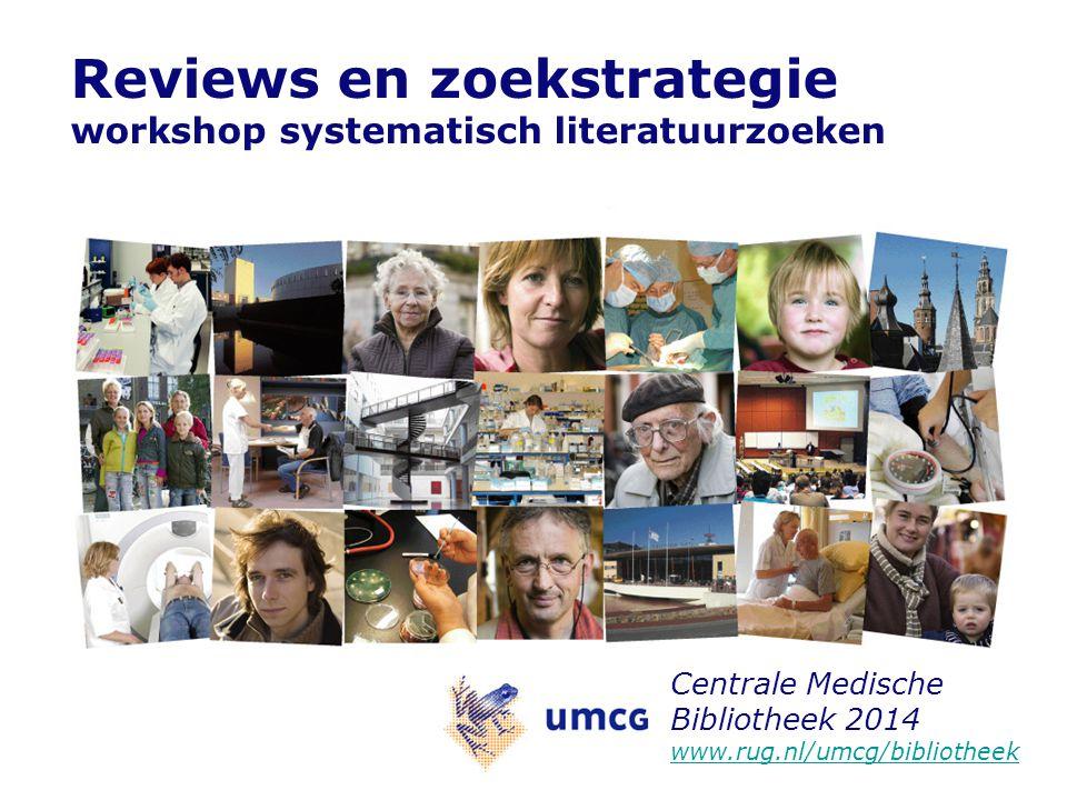 Reviews en zoekstrategie workshop systematisch literatuurzoeken