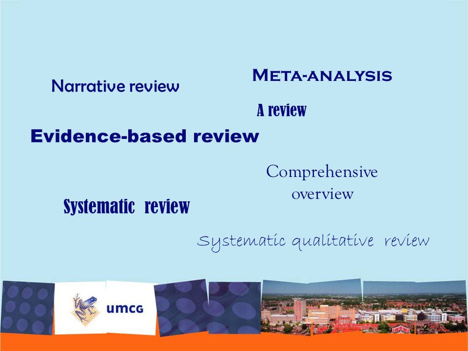 Evidence-based review