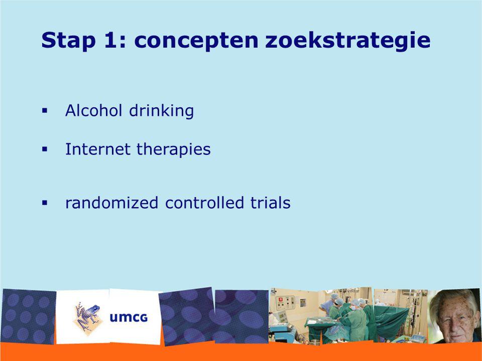 Stap 1: concepten zoekstrategie