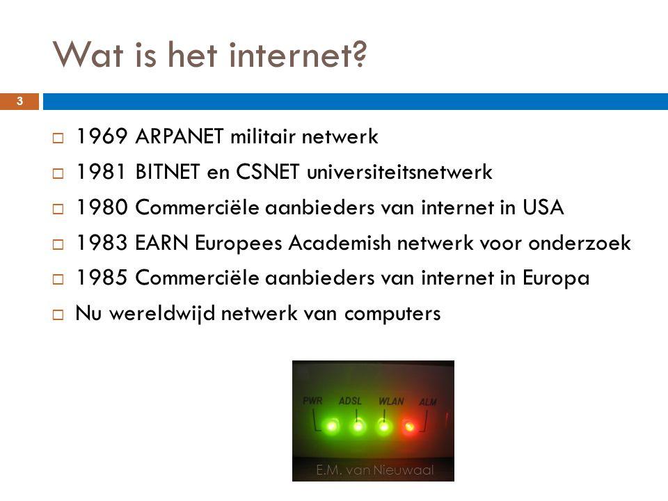 Wat is het internet 1969 ARPANET militair netwerk