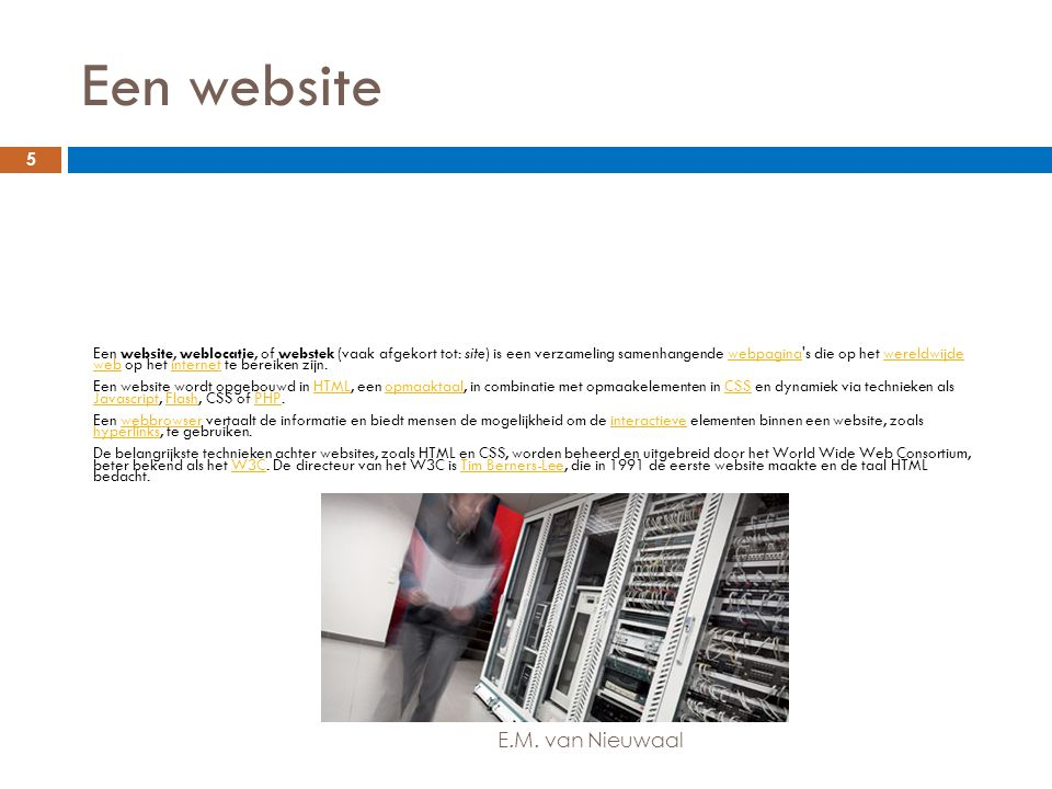Een website E.M. van Nieuwaal