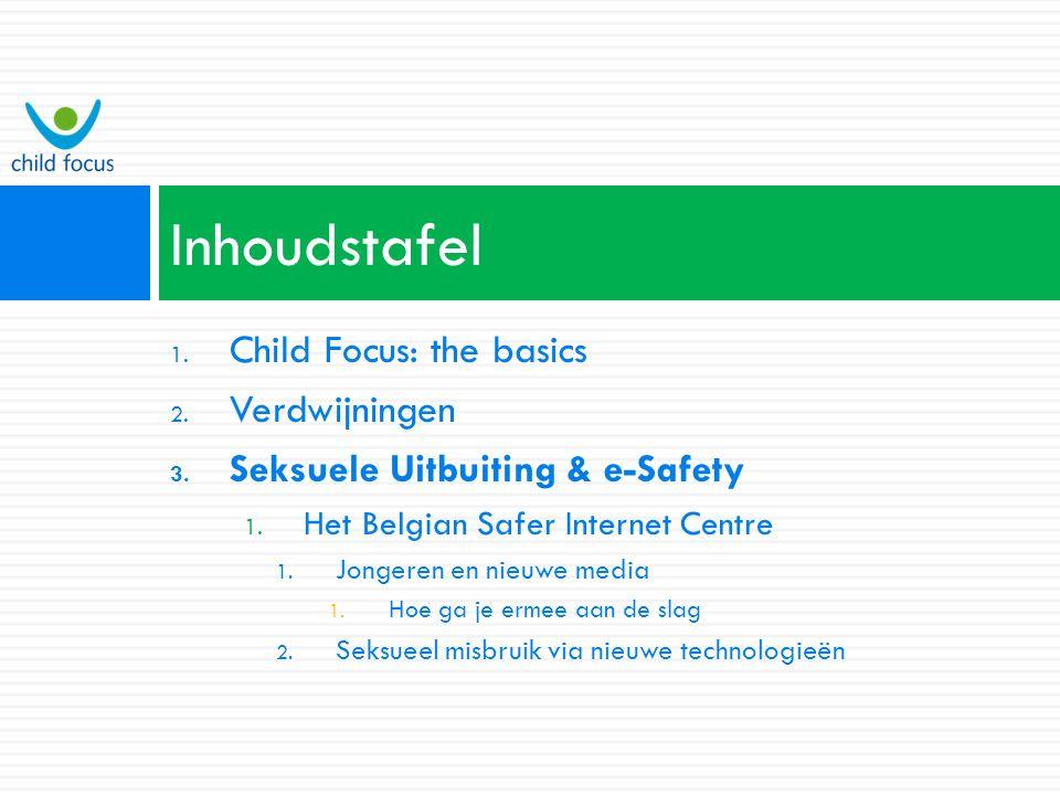 Inhoudstafel Child Focus: the basics Verdwijningen