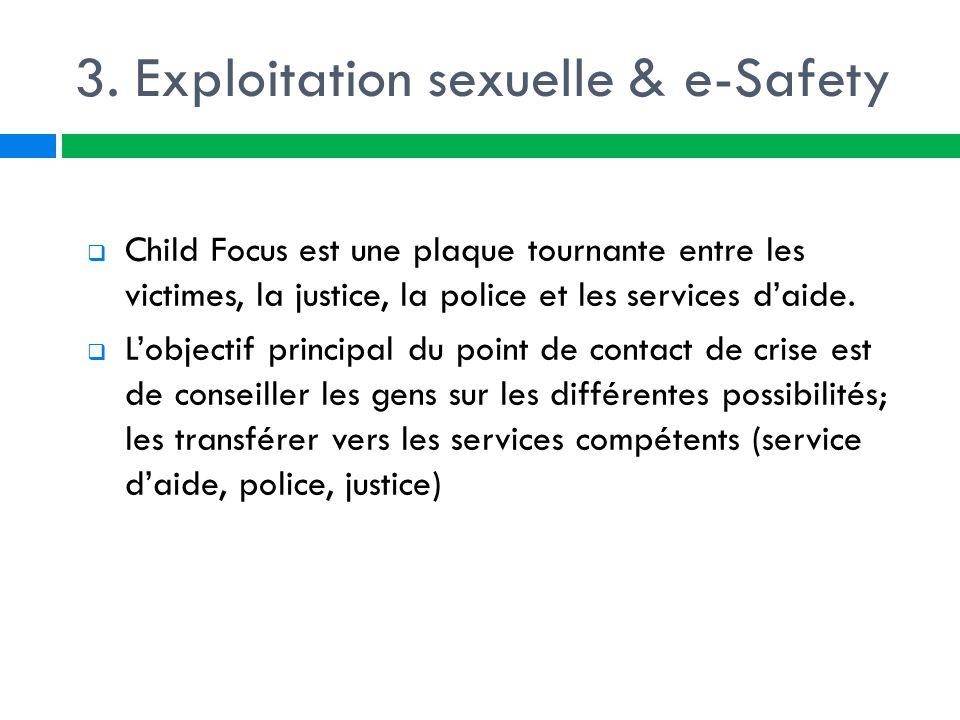 3. Exploitation sexuelle & e-Safety