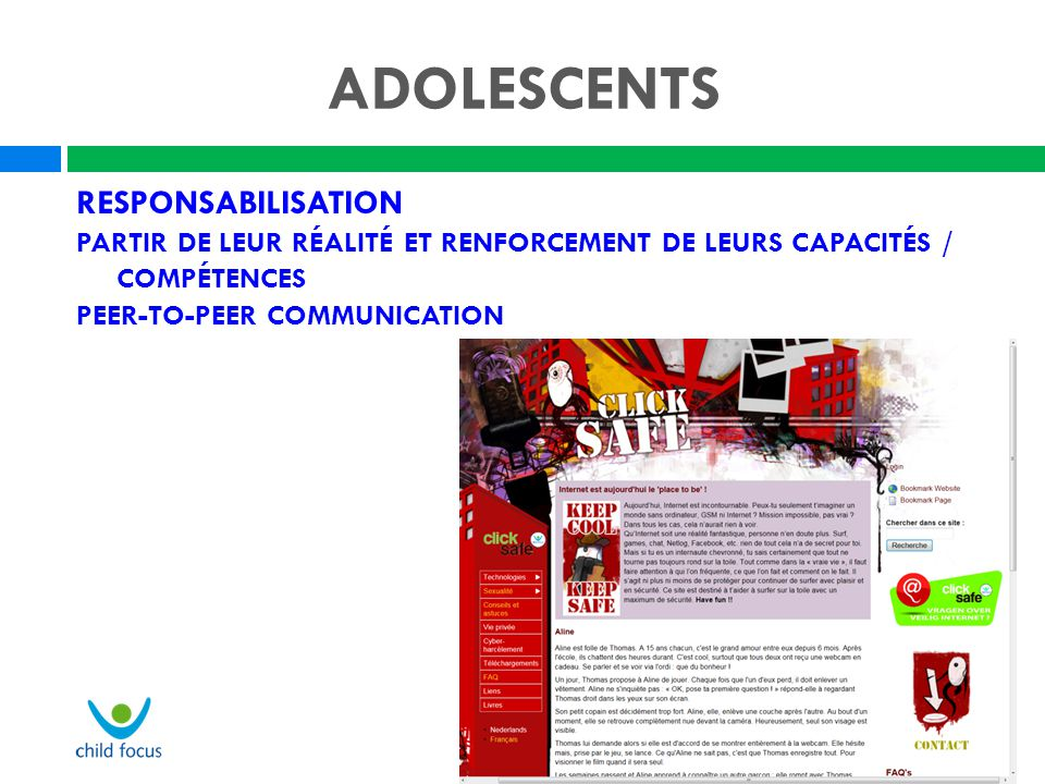 ADOLESCENTS Responsabilisation