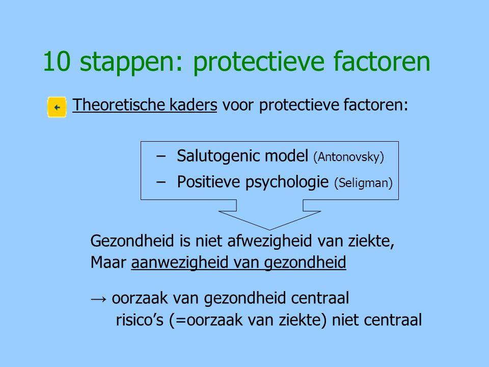 10 stappen: protectieve factoren