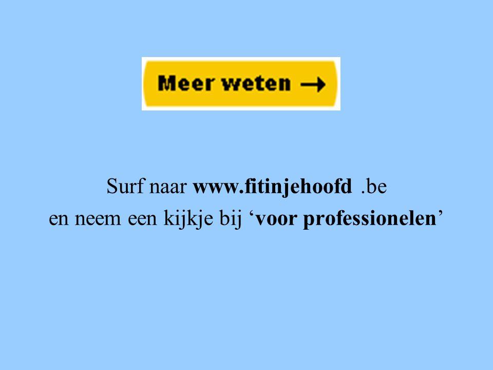 Surf naar www.fitinjehoofd .be