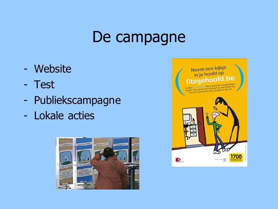 De campagne Website Test Publiekscampagne Lokale acties