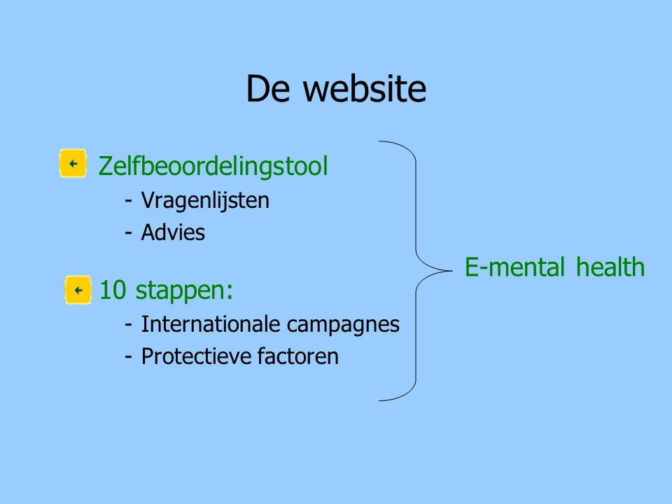 De website Zelfbeoordelingstool 10 stappen: E-mental health