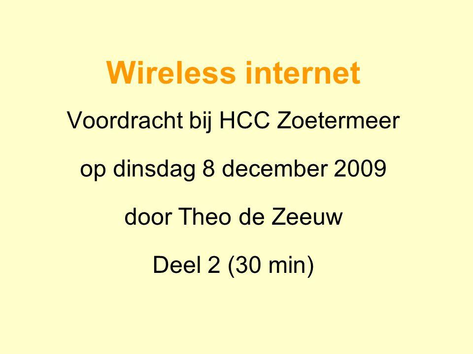 Voordracht bij HCC Zoetermeer