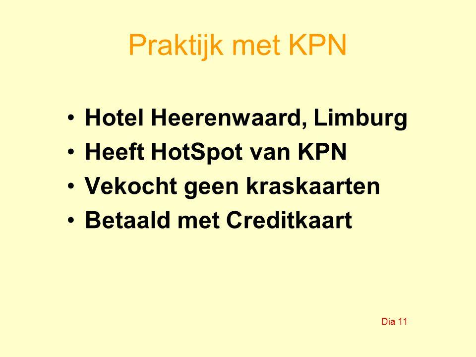 Praktijk met KPN Hotel Heerenwaard, Limburg Heeft HotSpot van KPN