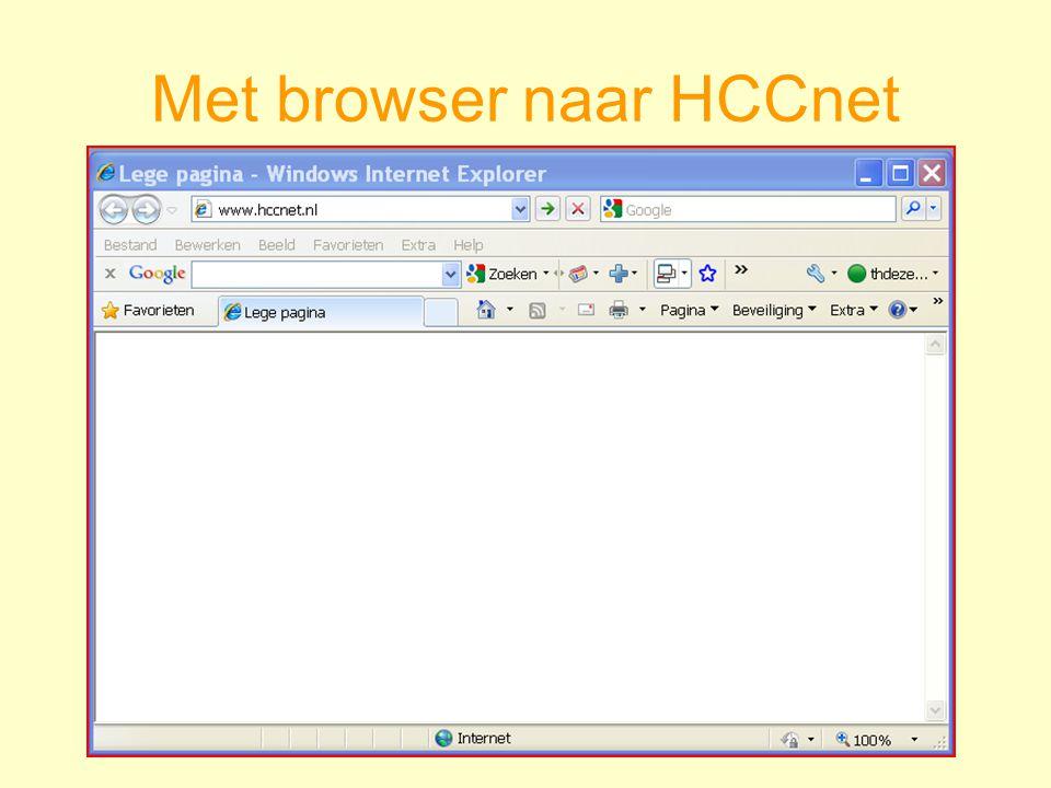 Met browser naar HCCnet