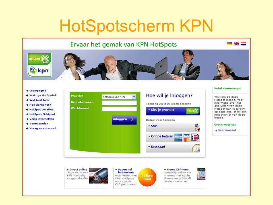 HotSpotscherm KPN