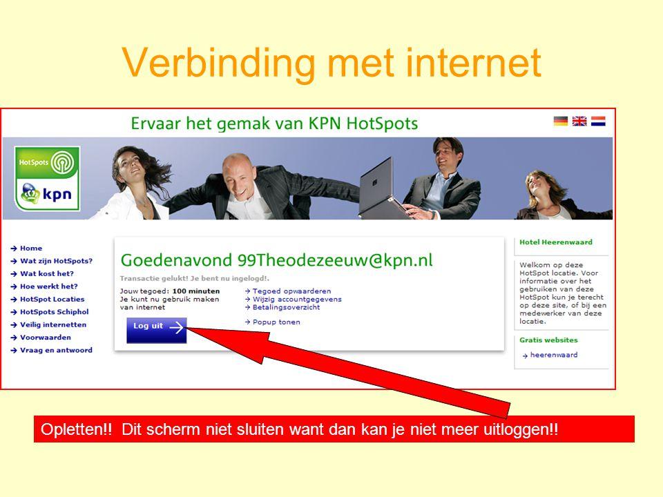Verbinding met internet