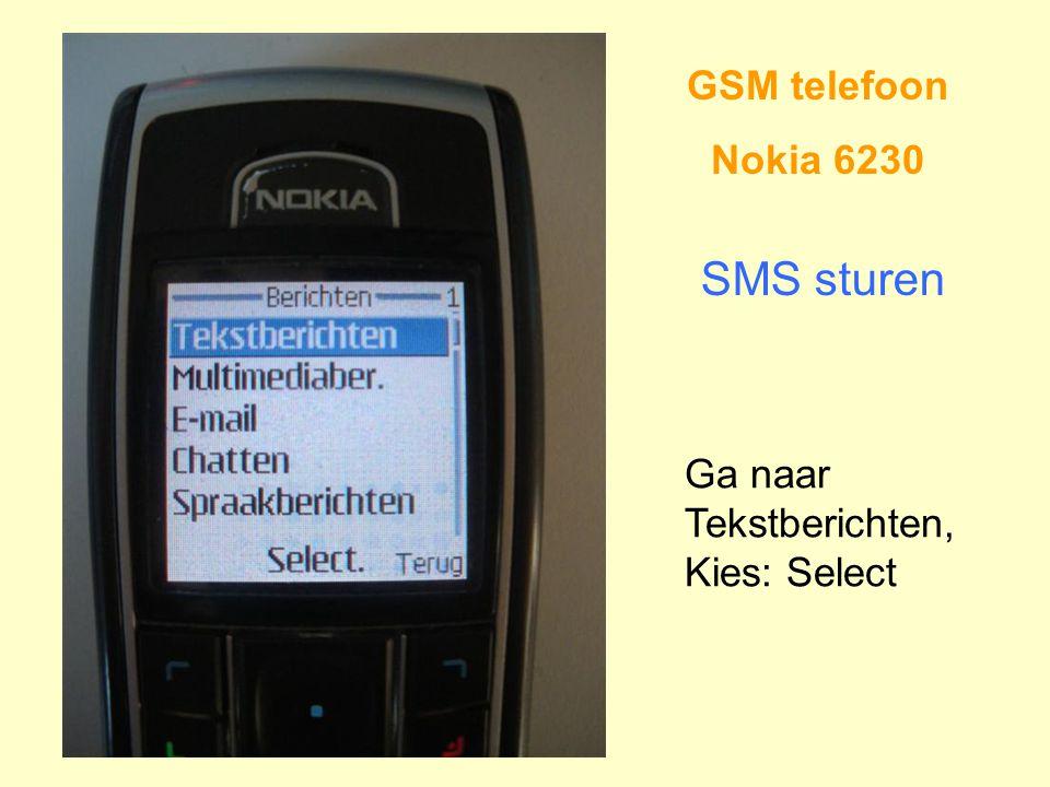 SMS sturen GSM telefoon Nokia 6230 Ga naar Tekstberichten,