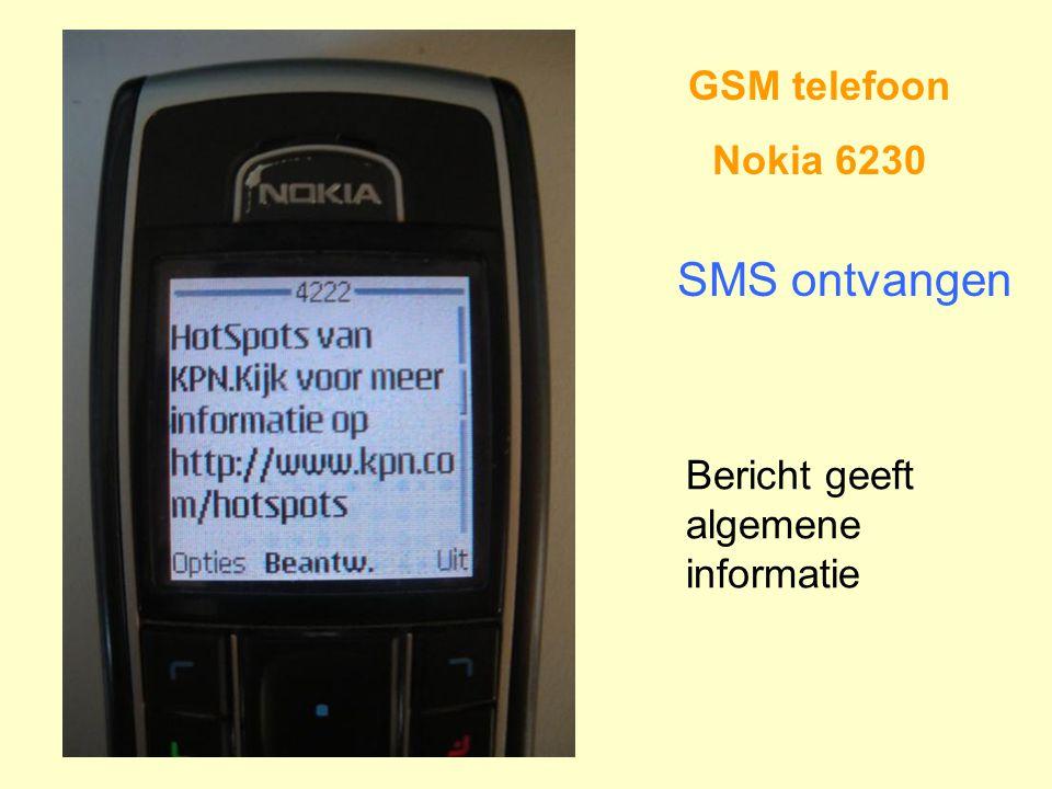 SMS ontvangen GSM telefoon Nokia 6230