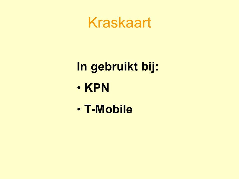 Kraskaart In gebruikt bij: KPN T-Mobile