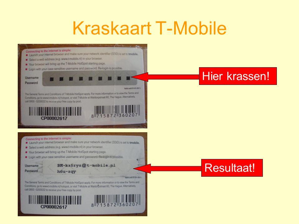 Kraskaart T-Mobile Hier krassen! Resultaat!
