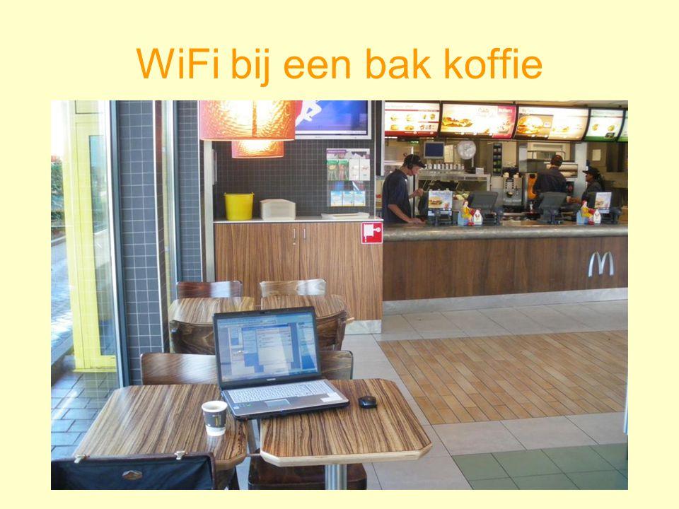 WiFi bij een bak koffie