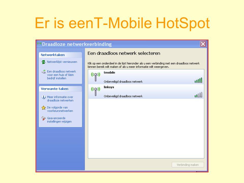Er is eenT-Mobile HotSpot