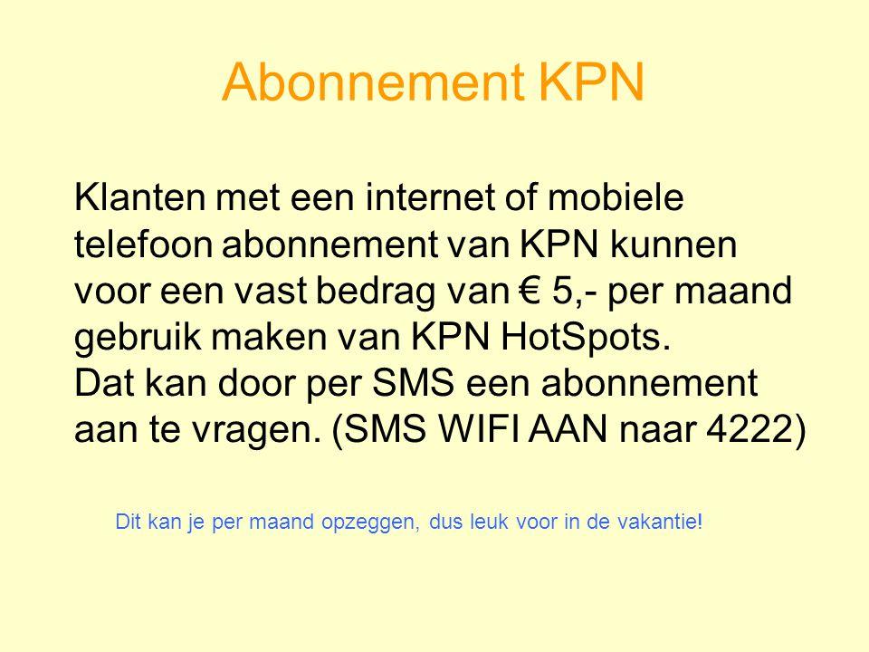 Abonnement KPN