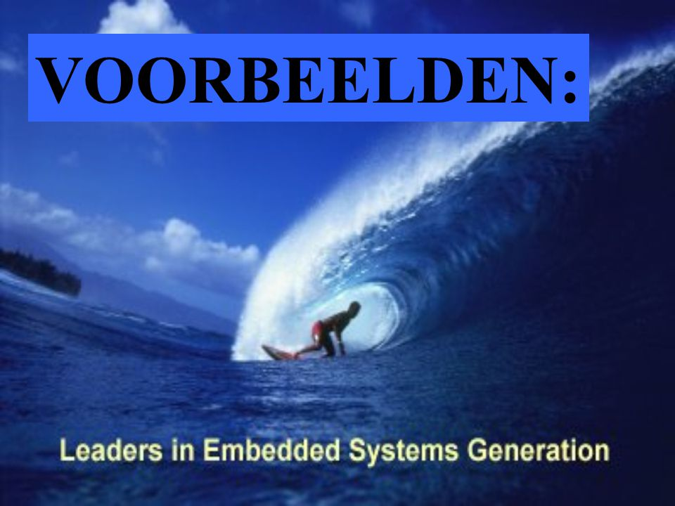VOORBEELDEN: